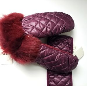 NWT Ugg Quilted All Weather Mittens & Headband Set